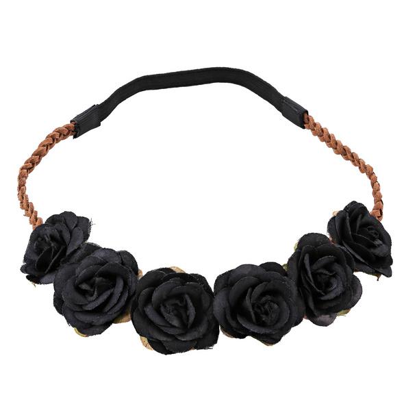 Haarband - Black Flowers