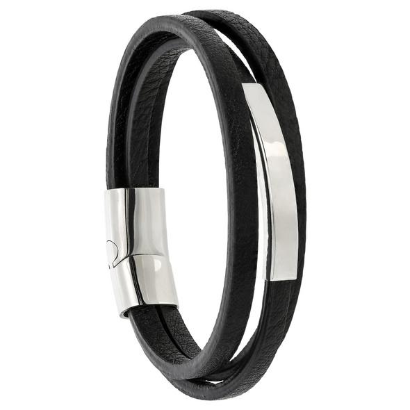Herren Armband - Black Lines