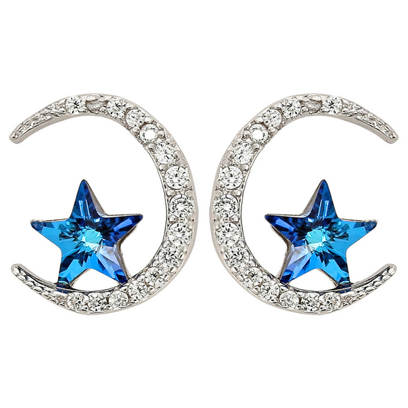 Ohrstecker - Blue Star
