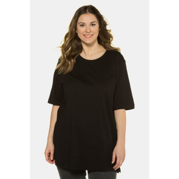 Ulla Popken T-Shirt, Rundhalsausschnitt, Relaxed, Baumwolle - Große Größen