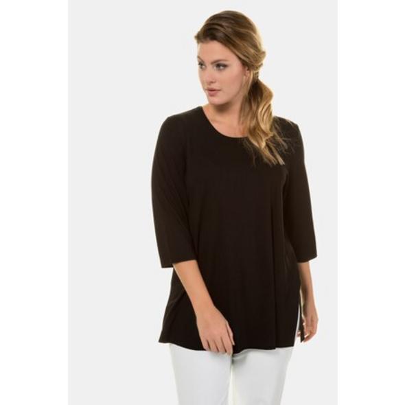 Ulla Popken Shirt, länger geschnitten, 3/4-Arm, selection - Große Größen