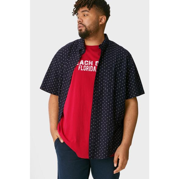 Hemd mit T-Shirt - Regular Fit - Button-down