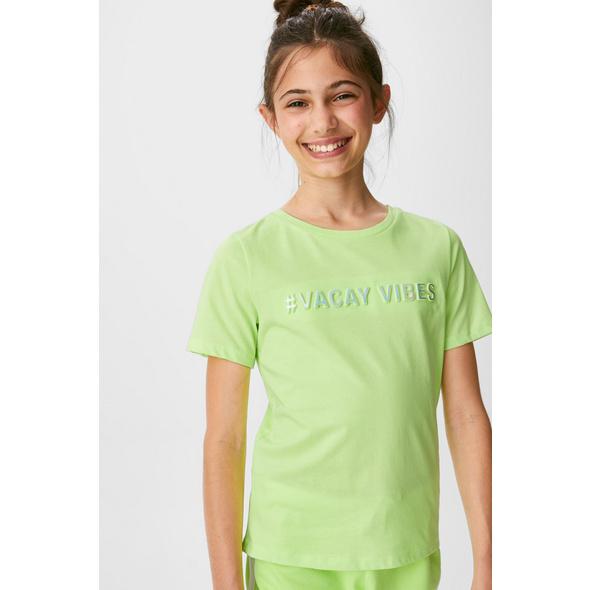 Set - Kurzarmshirt und Haargummi - Bio-Baumwolle - 2 teilig