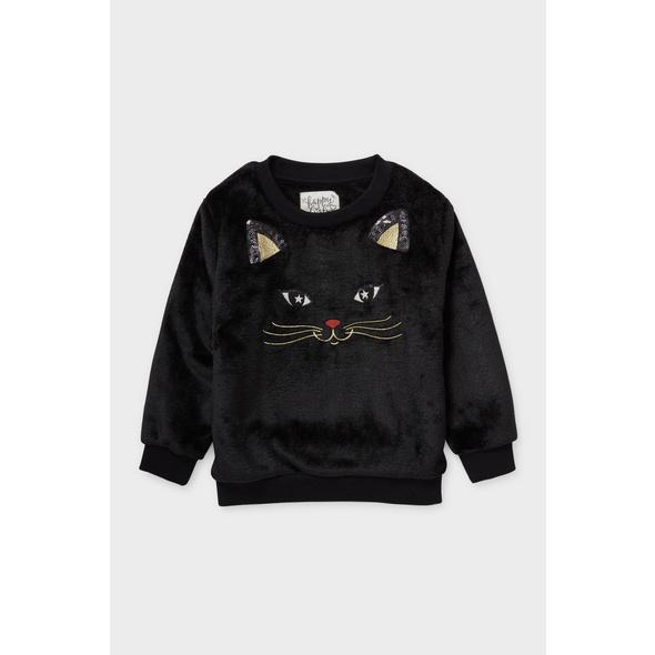 Teddy-Sweatshirt - Glanz-Effekt