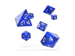 Würfel RPG-Set Translucent - Blau