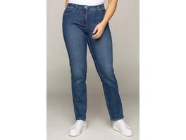 Ulla Popken Jeans Sarah, Galonstreifen, bequeme 5-Pocket-Form - Große Größen